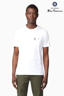 Ben Sherman White Classic Spade Pocket T-Shirt