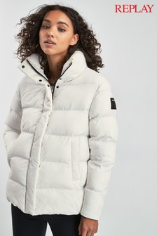 Replay® White Padded Jacket