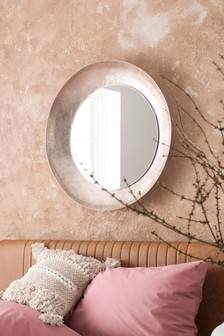 Hammered Metal Mirror