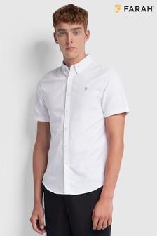 Farah White Brewer Slim Shirt