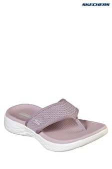 Skechers® Pink On The Go 600 Glossy Sandal