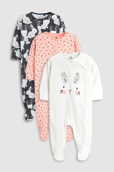 Bunny Character Sleepsuits Three Pack (0mths-2yrs)