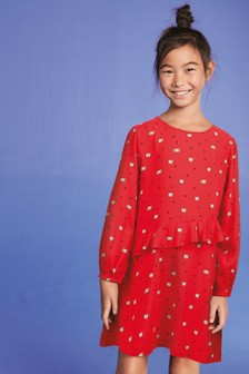 Ruffle Viscose Dress (3-16yrs)