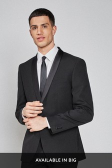 Slim Fit Tuxedo Suit: Jacket