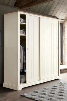 Hampton 2M Chalk Sliding Wardrobe