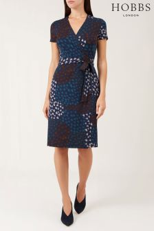 Hobbs Blue Delilah Wrap Dress