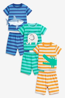 Animal/Stripe Pyjamas Three Pack (9mths-8yrs)