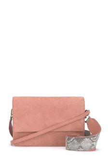 Mint Velvet Pink Anvi Suede Fold Over Cross Body Bag