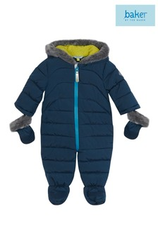 baker by Ted Baker Faux Fur Trim Footless Snowsuit