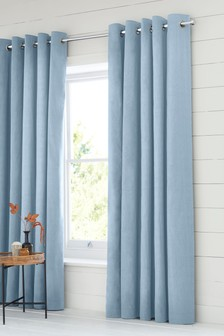 Eyelet Lined Cotton Curtains