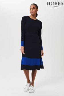 Hobbs Blue Victoria Knitted Dress