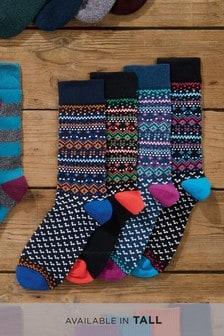 Pattern Heavyweight Socks Four Pack