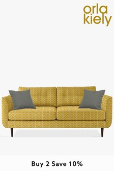 Orla Kiely Linden Large Sofa With Walnut Feet