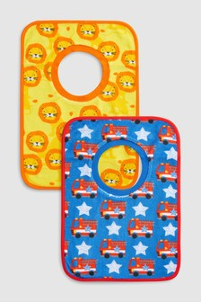 Bright Overhead Towelling Bibs Two Pack
