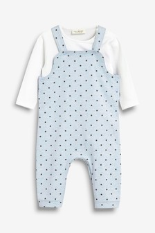 Star Dungaree And Ecru Bodysuit (0mths-2yrs)