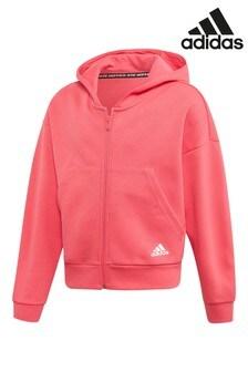 adidas Pink Must Have Full Zip Hoody