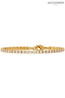 Accessorize Clear Z Sparkle Tennis Bracelet