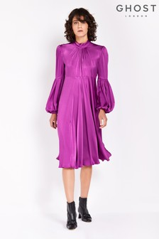 Ghost London Violet Heather Satin Dress