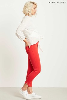 Mint Velvet Seattle Red Split Hem Jean