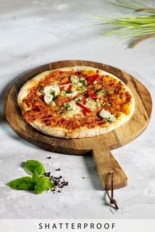 Drewniana deska do serwowania pizzy