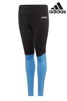 adidas Black/Blue Leggings