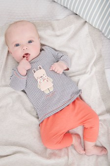 3D Bunny T-Shirt And Leggings Set (0mths-2yrs)