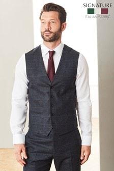 Cerruti Signature Check Suit: Waistcoat