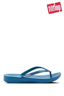 FitFlop Blue iQushion Ombre Sparkle Flip Flops