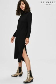 Selected Femme Black Jumper Dress
