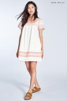 Vestido en crudo con bordado Heatherington de Jack Wills