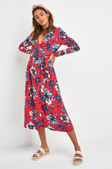 ae0988b66edac Print Wrap Midi Dress
