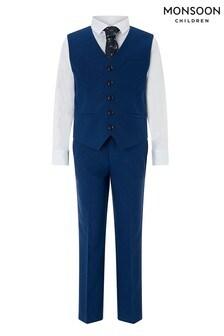 Monsoon Blue Oscar Complete Waistcoat Set