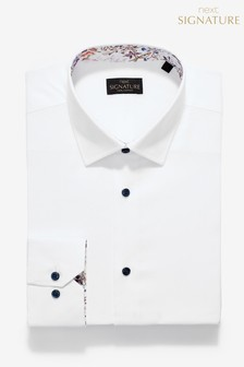 Signature Regular Fit Single Cuff Contrast Trim Shirt