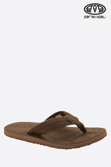 Animal Brown Hyde Flip Flop