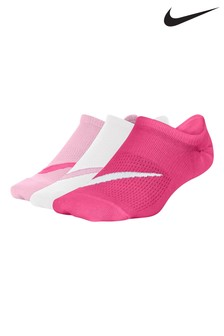 Nike Kids Pink Everyday Comfort Trainer Socks Three Pack