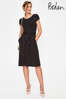 Boden Black Amelie Jersey Dress