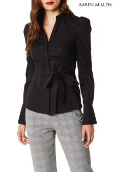 Karen Millen Black Drama Shoulder Shirt