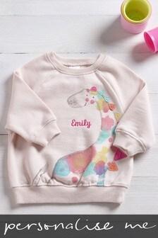 Personalised Pink Dinosaur Sweatshirt