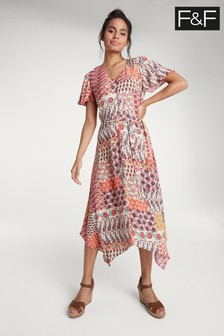 فستان طباعة مزركشة بيزلي من F&F
