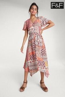 F&F Multi Paisley Print Dress