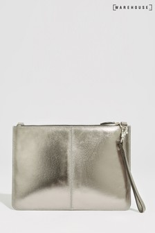 Warehouse Metallic Leather Multiway Clutch
