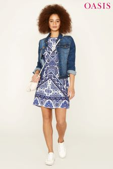 Oasis Blue Santorini Shift Dress
