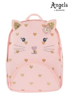 Angels By Accessorize Pink Katerina Cat Nylon Backpack 63b4e997f8121