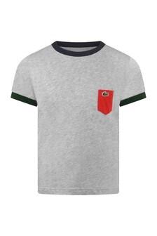 Boys Cotton Grey Short Sleeve T-Shirt