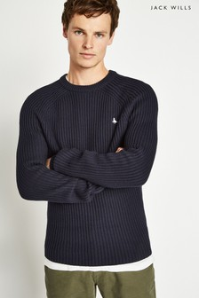 Jack Wills Blue Hammond Fisherman Crew