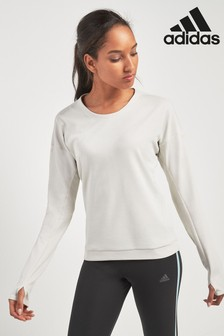 adidas Supernova Langarm-T-Shirt, Weiß