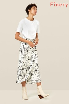 Finery London Multi Eve Monochrome Floral Wrap Skirt
