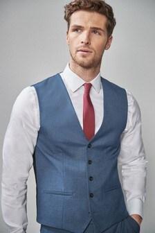 Stretch Marl Suit: Waistcoat