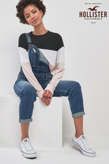 Hollister Denim Crop Dungaree