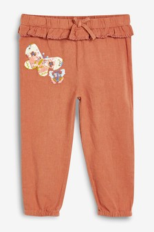 Butterfly Detail Pull-On Trousers (3mths-7yrs)